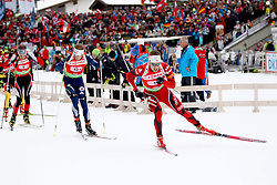 11.12.2011, Biathlonzentrum, Hochfilzen, AUT, E.ON IBU Weltcup, 2. Biathlon, Hochfilzen, Staffel Herren, im Bild nach dem start in fuehrung Brattsveen Rune (Team NOR) vor Bailey Lowell (Team USA) und Eder Simon (Team Austria) // during Team Relay E.ON IBU World Cup 2th Biathlon, Hochfilzen, Austria on 2011/12/11. EXPA Pictures © 2011. EXPA Pictures © 2011, PhotoCredit: EXPA/ nph/ Straubmeier..***** ATTENTION - OUT OF GER, CRO *****