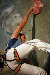 Slovenian climber Martina Cufar at her last world cup competition in Kranj, on November 18, 2006.  (Photo by Vid Ponikvar / Sportal Images)/ Sportida)