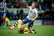 Ádám Bogdán (Wigan Athletic) makes a save in the dying moments of the game from Ben Pearson (Preston North End) to keep the score to 1-0  during the EFL Sky Bet Championship match between Preston North End and Wigan Athletic at Deepdale, Preston, England on 23 September 2016. Photo by Mark P Doherty.