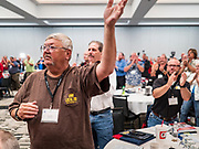 21 AUGUST 2019 - ALTOONA, IOWA: Many of the Democratic presidential candidates are addressing the Iowa Federation of Labor convention at the Prairie Meadow Casino in Altoona. They are hoping to secure labor support before the Iowa Caucuses on Feb. 3, 2020.      PHOTO BY JACK KURTZ