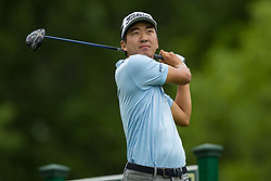 May 30, 2019 - Dublin, OH, U.S. - DUBLIN, OH - MAY 30: Michael Kim plays his shot from the 18th tee during the Memorial Tournament presented by Nationwide at Muirfield Village Golf Club on May 30, 2018 in Dublin, Ohio. (Photo by Adam Lacy/Icon Sportswire) (Credit Image: © Adam Lacy/Icon SMI via ZUMA Press)