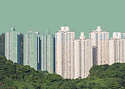 Urban Landscape in Kwun Tong, Hong Kong.