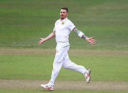 Dale Steyn celebrates Tom Latham's wicket during day two of the first test match between South Africa and New Zealand held at the Kingsmead stadium in Durban, KwaZulu Natal, South Africa on the 20th August 2016<br /> <br /> Photo by:   Anesh Debiky / Real Time Images