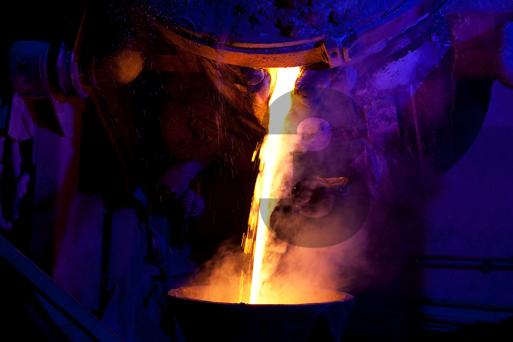 The HERRADURA mine in the State of Sonora, part of the Fresnillo plc group is one of Mexico's richest gold mine. The smelting process.