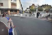 Frankrijk, Ouistreham, 12-5-2013Straatbeeld in La Bella Riva. Badplaats in Normandie.Foto: Flip Franssen/Hollandse Hoogte