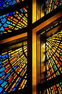 The chancel stained glass on Wednesday, May 13, 2020, at St. Paul's Lutheran Church, Columbia, Ill. LCMS Communications/Erik M. Lunsford