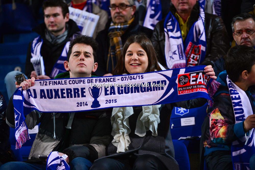 Supporters Auxerre  - 07.04.2015 -  Auxerre / Guingamp - 1/2Finale de Coupe de France<br />Photo : Dave Winter / Icon Sport