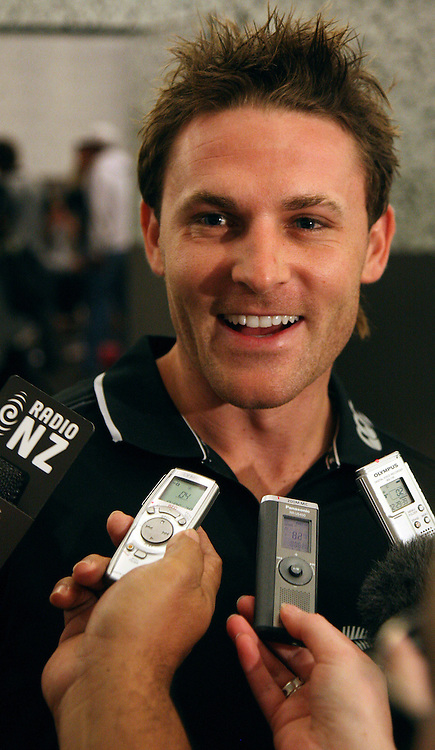 Brendon McCullum during a Black Caps press opportunity, Auckland, 6 November 2008. Photo: Andrew Cornaga/PHOTOSPORT
