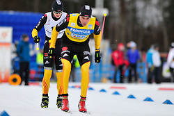 MESSINGER Nico Guide: HUHN Michael, GER at the 2014 IPC Nordic Skiing World Cup Finals - Sprint