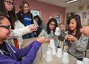 Students participate in a workshop during a Science, Technology, Engineering and Math (STEM) symposium at Chavez High School, November 15, 2014.