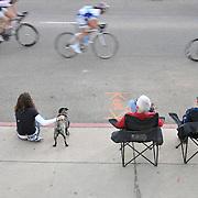 Spectators watching Women 1/2/3 race, UA Criterium 2012, Tucson, Arizona. Bike-tography by Martha Retallick.