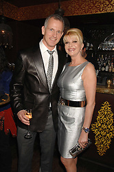 IVANA TRUMP and BRIAN PADDICK Lib Dem candidate for Mayor of London 2008 at a party in honour of Ivana Trump hosted by Mohieb Dahabieh at Pasha, Gloucester Road, London on 25th January 2008.<br />