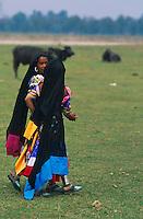 Nepal, Region du Terai, Ethnie Rana Tharu. // Nepal, Terai area, Rana Tharu ethnic group.