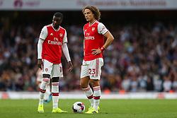 David Luiz and Nicolas Pepe of Arsenal stand over a free kick  - Mandatory by-line: Arron Gent/JMP - 22/09/2019 - FOOTBALL - Emirates Stadium - London, England - Arsenal v Aston Villa - Premier League
