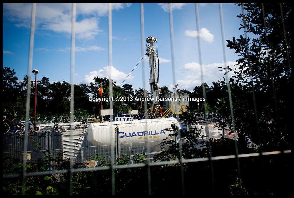 File Pictures of the Cuadrilla drilling site during an anti-fracking demonstration in Balcombe, West Sussex, Monday, 19th August 2013. Picture by Andrew Parsons / i-Images