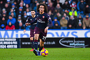Matteo Guendouzi of Arsenal (29) passes the ball during the Premier League match between Huddersfield Town and Arsenal at the John Smiths Stadium, Huddersfield, England on 9 February 2019.