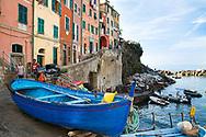 Harbor at Riomaggiore, Riomaggiore is one for the five villages of the beautiful Cinque Terre Itally