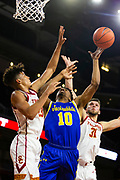 South Dakota State Jackrabbits guard Alou Dillon (10) shoots the ball in the first half against the Southern California Trojans during an NCAA basketball game, Tuesday, Nov. 12, 2019, in Los Angeles. USC defeated South Dakota State 84-66. (Brandon Sloter/Image of Sport)