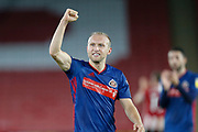 Dylan McGeouch of Sunderland celebrates winning the EFL Cup match between Sheffield United and Sunderland at Bramall Lane, Sheffield, England on 25 September 2019.