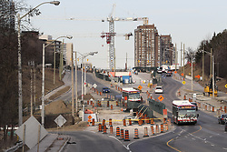 March 27, 2019 - Toronto, ON, Canada - TORONTO, ON - March 27   Extensive and ongoing construction is seen around the new Science Centre station in the Don Mills and Eglinton area..The Eglinton crosstown project for the TTC is  seen for a look at what impact the province's upload plan could have on four key transit projects..March 27, 2019 Richard Lautens/Toronto Star (Credit Image: © Richard Lautens/The Toronto Star via ZUMA Wire)