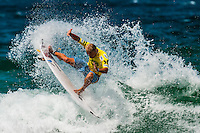 Mitch Crews, pro surfer competing in the Australian Open of Surfing, Manly Beach, Sydney, New South Wales, Australia