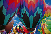 Hot air balloon; festival; Albuquerque; New Mexico; USA; ballooning; blue sky;  sport