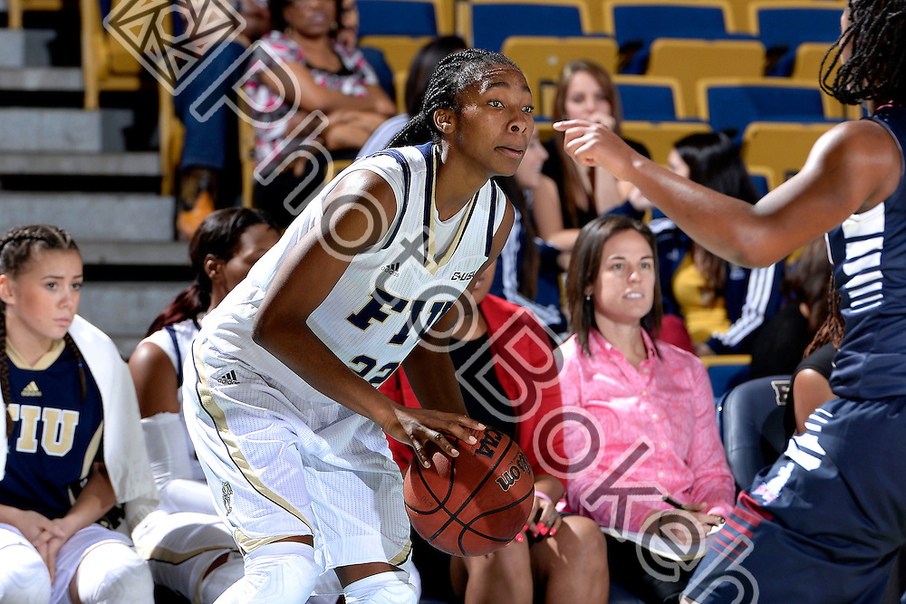 2013 December 28 - FIU's Jerica Coley (22). Florida International University defeated Fairleigh Dickinson, 79-57, at US Century Bank Arena, Miami, Florida. (Photo by: Alex J. Hernandez / photobokeh.com) This image is copyright by PhotoBokeh.com and may not be reproduced or retransmitted without express written consent of PhotoBokeh.com. ©2013 PhotoBokeh.com - All Rights Reserved
