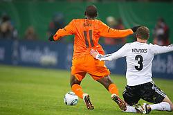 15.11.2011, Imtech Arena, Hamburg, GER, FSP, Deutschland (GER) vs Holland (NED), im Bild Ryan Babel (NED #11 19 1899 Hoffenheim( vs Benedikt Höwedes /Hoewedes (GER #03 Schalke) // during the Match Gemany (GER) vs Netherland (NED) on 2011/11/15,  Imtech Arena, Hamburg, Germany. EXPA Pictures © 2011, PhotoCredit: EXPA/ nph/ Kokenge..***** ATTENTION - OUT OF GER, CRO *****