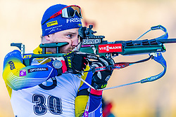 16.01.2020, Chiemgau Arena, Ruhpolding, GER, IBU Weltcup Biathlon, Sprint, Herren, im Bild Jesper Nelin (SWE) // Jesper Nelin of Sweden during the men's sprint competition of BMW IBU Biathlon World Cup at the Chiemgau Arena in Ruhpolding, Germany on 2020/01/16. EXPA Pictures © 2020, PhotoCredit: EXPA/ Stefan Adelsberger