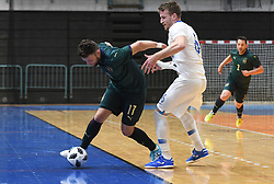 Pablo Vierira Arlan of Italy and Denis Totoskovic of Slovenia during futsal friendly match between National teams of Slovenia and Italy, on December 3, 2019 in Maribor, Slovenia. Photo by Milos Vujinovic / Sportida