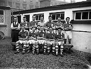 22/01/1956<br /> 01/22/1956<br /> 22 January 1956<br /> Soccer: Albert Rovers v Workmen's FC . FAI Intermediate Semi-Final, Bray. The Workmens FC Team