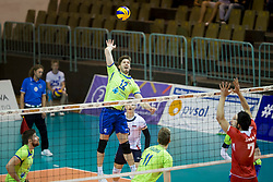 Jan Klobucar of Slovenia during volleyball match between national teams of Slovenia and Turkey of 2018 CEV volleyball Godlen European League, on May 27, 2018 in Sports hall Tabor, Maribor, Slovenia. Photo by Urban Urbanc / Sportida