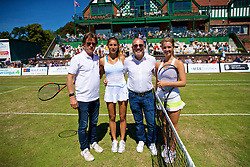 LIVERPOOL, ENGLAND - Sunday, June 24, 2018: Tournament director Anders Borg, Corinna Dentoni (ITA), Miguel Queipo, Amalia restaurant, Ellie Tsimbilakis (GBR) during day four of the Williams BMW Liverpool International Tennis Tournament 2018 at Aigburth Cricket Club. (Pic by Paul Greenwood/Propaganda)