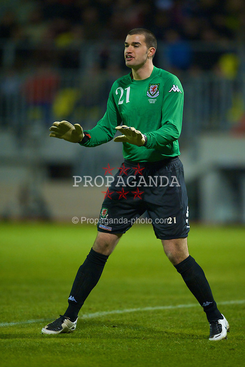 LUXEMBOURG CITY, LUXEMBOURG - Wednesday, March 26, 2008: Wales' goalkeeper Boaz Myhill makes his debut against Luxembourg during the International Friendly match at the Stade Josy Barthel. (Photo by David Rawcliffe/Propaganda)