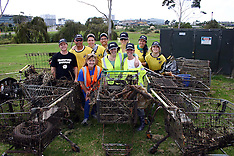 Auckland-Hundreds turnout for Puhinui Stream cleanup, Manukau