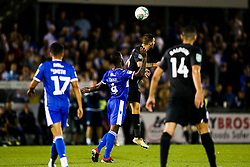 Abu Ogogo of Bristol Rovers and Pascal Gross of Brighton & Hove Albion - Rogan/JMP - 27/08/2019 - FOOTBALL - Memorial Stadium - Bristol, England - Bristol Rovers v Brighton & Hove Albion - Carabao Cup.
