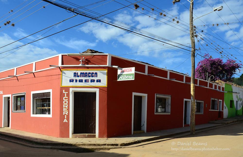 """Almacen Ribera"" store front in Samaipata, Santa Cruz, Bolivia"