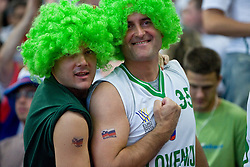Slovenian fans during the EuroBasket 2009 Semi-final match between Slovenia and Serbia, on September 19, 2009, in Arena Spodek, Katowice, Poland. Serbia won after overtime 96:92.  (Photo by Vid Ponikvar / Sportida)