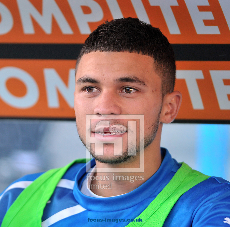 Picture by Graham Crowther/Focus Images Ltd +44 7763 140036<br /> 11/01/2014<br /> New signing Nahki Wells of Huddersfield Town before the Sky Bet Championship match at the John Smiths Stadium, Huddersfield against Millwall