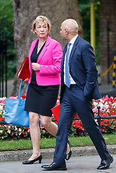 © Licensed to London News Pictures. 18/07/2017. Leader of Commons ANDREA LEADSOM and Local Governments Secretary SAJID JAVID attend a cabinet meeting in Downing Street, London on Tuesday, 18 July 2017 London, UK. Photo credit: Tolga Akmen/LNP