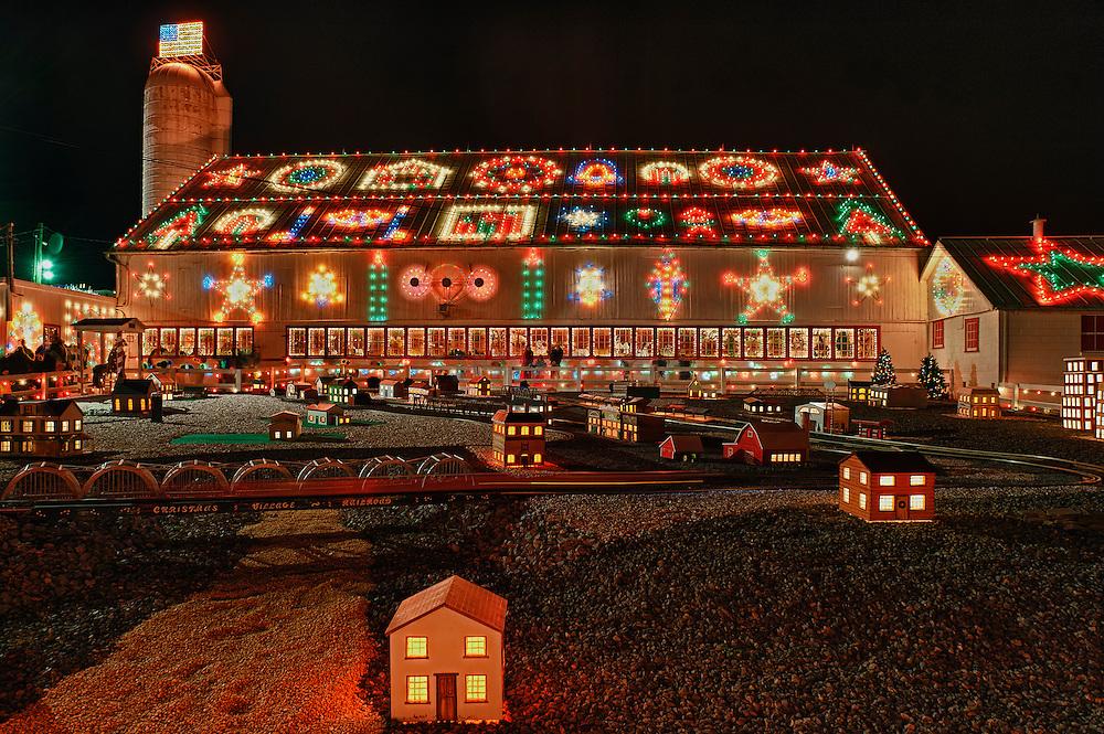Christmas display at Koziar's Christmas Village, Bernville, PA, Pennsylvania, USA