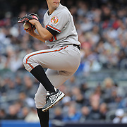 Ubaldo Jimenez, Baltimore Orioles, pitching during the New York Yankees V Baltimore Orioles home opening day at Yankee Stadium, The Bronx, New York. 7th April 2014. Photo Tim Clayton
