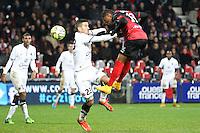 Christophe MANDANNE / Jean CALVE - 03.12.2014 - Guingamp / Caen - 16eme journee de Ligue 1 <br />Photo : Vincent Michel / Icon Sport