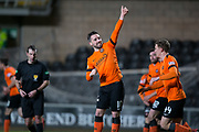 12th January 2019, Tannadice Park, Dundee, Scotland; Scottish Championship football, Dundee United versus Dunfermline Athletic; Nicky Clark of Dundee United celebrates after scoring for 1-0 in the 80th minute