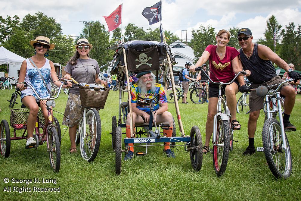 Niki Mendow, LeAnn Magee, Stewart Eastman, Evette and Mike Randolph at the Louisiana Bicycle Festival in Abita Springs on June 15, 2019