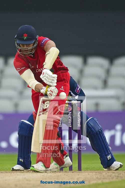 Andrea Agathangelou of Lancashire Lightning during the Natwest T20 Blast match at Old Trafford Cricket Ground, Stretford<br /> Picture by Ian Wadkins/Focus Images Ltd +44 7877 568959<br /> 30/05/2014