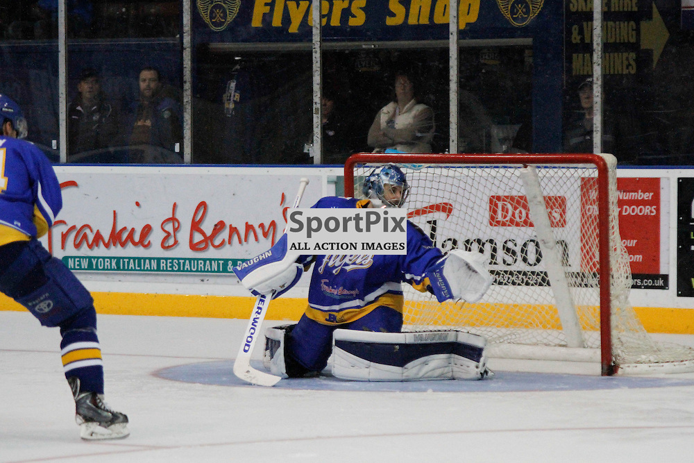 Fife Flyers V Dundee Stars, Elite Ice Hockey League, 5 December 2015Fife Flyers V Dundee Stars, Elite Ice Hockey League, 5 December 2015<br /> <br /> FIFE FLYERS NETMINDER #30 DAVID BROWN MAKES A BRILLIANT SAVE FOR FIFE