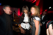 PATRICK COX; NAOMI CAMPBELL; HEATHER KERZNER, The Summer Party. Hosted by the Serpentine Gallery and CCC Moscow. Serpentine Gallery Pavilion designed by Frank Gehry. Kensington Gdns. London. 9 September 2008.  *** Local Caption *** -DO NOT ARCHIVE-© Copyright Photograph by Dafydd Jones. 248 Clapham Rd. London SW9 0PZ. Tel 0207 820 0771. www.dafjones.com.