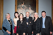 TESSA MURDOCH; SIENNA MURDOCH; SOPHIE MEYER; ASHLEY MEYER; CAROLYN SANDS; DAVID SANDS ; Mrs. Carl Meyer and her Children. John Singer Sargent Migrations private view, Tate Britain. London. 30 January 2012.