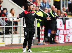 Bristol City head coach Lee Johnson gestures - Mandatory by-line: Matt McNulty/JMP - 10/09/2016 - FOOTBALL - Aesseal New York Stadium - Rotherham, England - Rotherham United v Bristol City - Sky Bet Championship